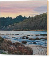 Umpqua Sunset Wood Print