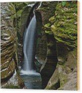 Un-named Falls Wood Print