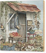Uncle Ralph's Veggies Wood Print