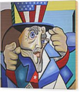 Uncle Sam 2001 Wood Print