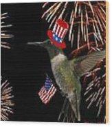 Uncle Sam Hummer Wood Print
