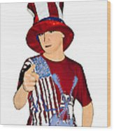 Uncle Sam Wood Print