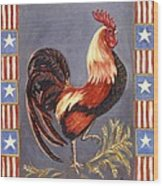 Uncle Sam The Rooster Wood Print