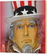 Uncle Sam Wants You Wood Print