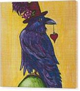 Uncommon Raven Love 1 Wood Print