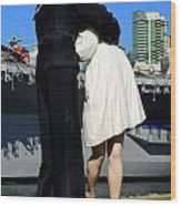 Unconditional Surrender Kiss Wood Print