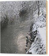 Under A Blanket Of Snow Wood Print