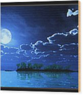Under A Silvery Moon...artistic Effect Wood Print