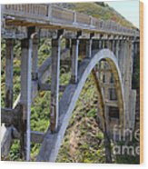 Under Bixby Bridge By Diana Sainz Wood Print