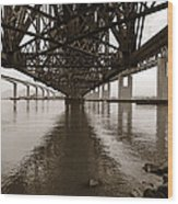 Under Bridges Wood Print