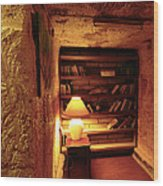 Under Ground Book Shelf Wood Print