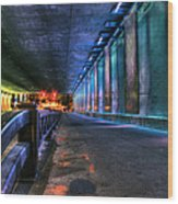 Under Lasalle St. Station Wood Print