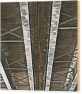 Under Overpass Wood Print