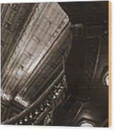 Under The Balcony Wood Print