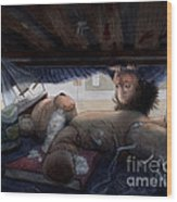 Under The Bed Wood Print by Isabella Kung