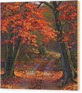 Under The Blazing Canopy Wood Print