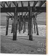 Under The Boardwalk Wood Print