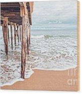 Under The Boardwalk Salsibury Beach Wood Print