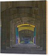 Under The Bridge   #1247 Wood Print