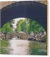 Under The Canals Wood Print