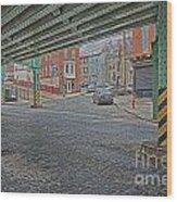 Under The El Manayunk Wood Print