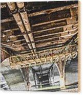 Under The Golden Bridge Wood Print