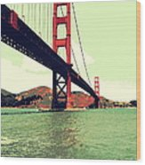 Under The Golden Gate Wood Print