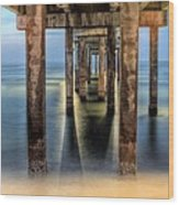 Under The Gulf Shores Pier Wood Print by JC Findley