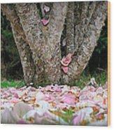 Under The Magnolia Tree Wood Print
