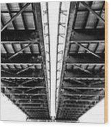 Under The Page Bridge Wood Print