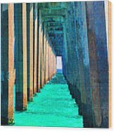Under The Pier Too Wood Print
