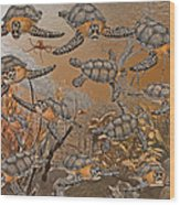 Under The Red Sea II Wood Print
