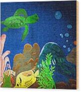 Under The Sea Mural 2 Wood Print
