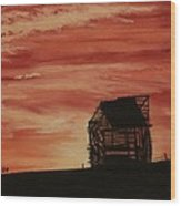 Under The Sunset Wood Print