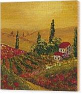 Under The Tuscan Sun Wood Print by Darice Machel McGuire