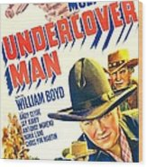 Undercover Man, Us Poster, Bottom Wood Print