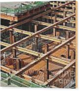 Underground Construction Project Wood Print