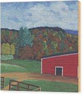 Undermountain Autumn Wood Print