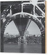 Underneath The George Washington Bridge Iv Wood Print