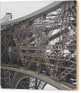 Underneath The Tour Eiffel Wood Print