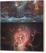 Undersea Angels Red Wood Print