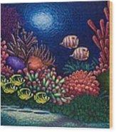 Undersea Creatures Vi Wood Print