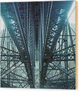 Underside Of A Bridge, Hudson Valley Wood Print