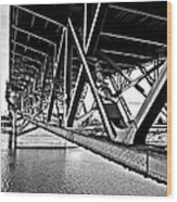 Underside Of The Burnside Bridge Wood Print