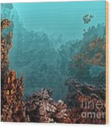 Underwater 6 Wood Print by Bernard MICHEL