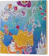 Underwater Flowers Wood Print by Diane Fine