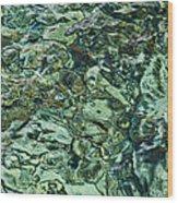 Underwater Rocks - Adriatic Sea Wood Print