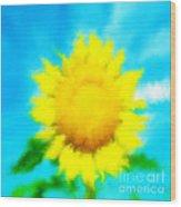 Underwater Sunflower Wood Print by Lorraine Heath