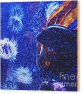Underwater Swarm Wood Print