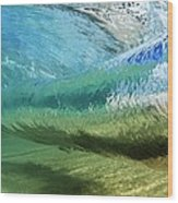 Underwater Wave Curl Wood Print by Vince Cavataio - Printscapes